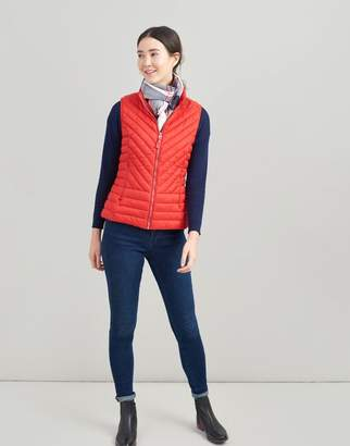 Joules RED Brindley Chevron Quilted Gilet Size 14