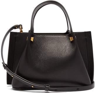 Valentino Go Logo Small Leather Shoulder Bag - Womens - Black