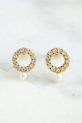 CZ Mini Circle Stud Earrings