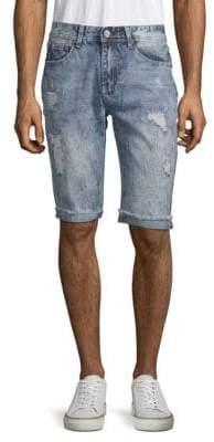 X-RAY Jeans Distressed Denim Shorts