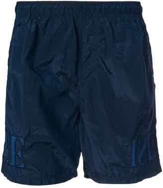 Stone Island logo embroidered swim shorts