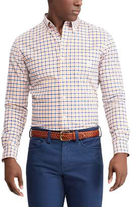Chaps Men's Classic-Fit Plaid Stretch Oxford Button-Down Shirt