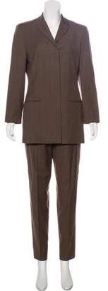 Calvin Klein Collection Wool Notched-Lapel Pantsuit