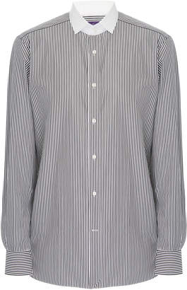 Ralph Lauren Aston Striped Cotton-Poplin Button-Up Dress Shirt