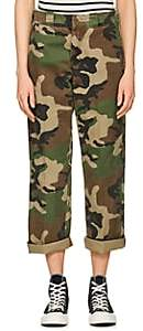 R 13 Women's Slouch Camouflage Cotton Pants - Grn. Pat.