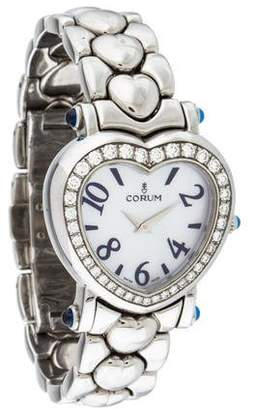 Corum Heart Beat Watch w/ Mother of Pearl Dial