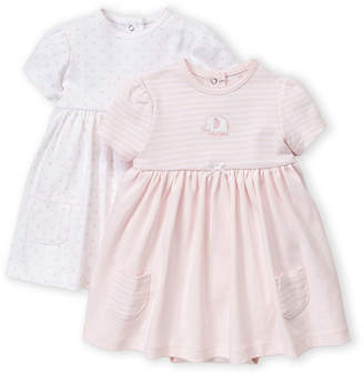Little Me Newborn Girls) Two-Piece Elephant Bodysuit Dress Set