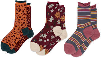 Hansel from Basel Set-Of-Three Unique Printed Cotton-Blend Crew Socks