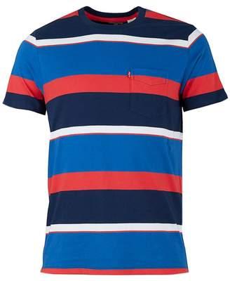 86f2cbff8204 Levi s Sunset Striped Pocket T-shirt Colour  RED