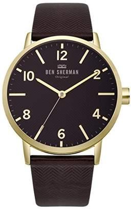 Ben Sherman Men's 'Big Portobello' Quartz Gold-Tone and Nylon Casual Watch