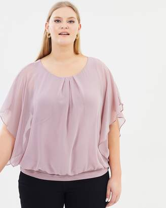 Evans Bubble Hem Top