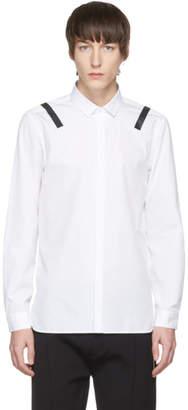 Neil Barrett White and Black Taped Shoulder Shirt