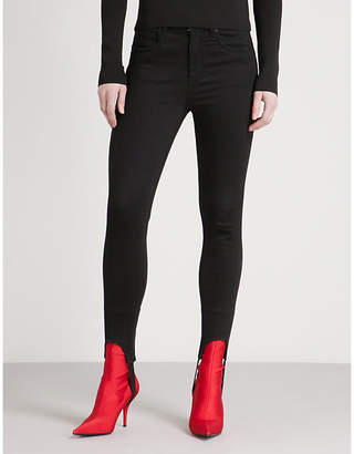 Mo&Co. Stirrup skinny slim-fit high-rise jeans