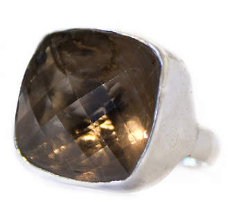 Blumera Smoky Quartz Square Love Ring