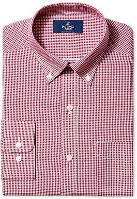Buttoned Down Men's Classic Fit Button Collar Pattern Shirt