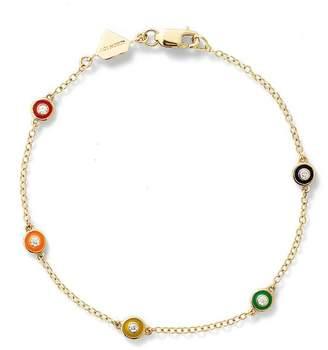 Alison Lou Diamond Enamel Bezel By The Yard Bracelet
