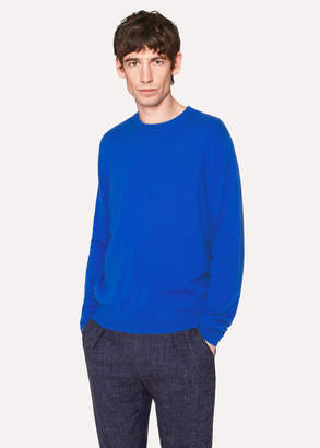 Paul Smith Men's Cobalt Blue Cashmere Sweater
