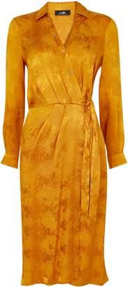 WallisWallis Ochre Snake Print Midi Dress