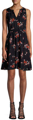 Rebecca Taylor Silk-Blend Flare Dress