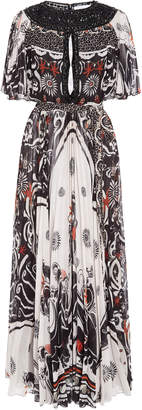 Murad Zuhair Koli Graphic Print Chiffon Dress