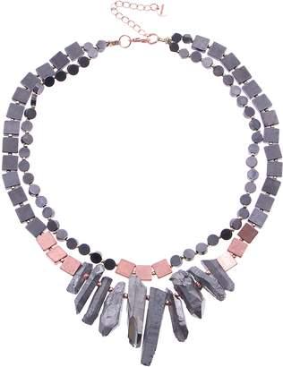 Nakamol Design Quartz Crystal Collar Necklace