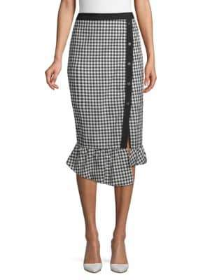 a7cab3c31a BCBGeneration Gingham Pencil Skirt