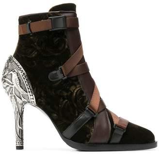 Chloé velvet stiletto ankle boots