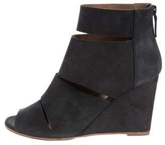 Hermès Suede Peep-Toe Booties footlocker finishline online cheap store sneakernews sale online cheap online clearance low shipping Xc2N92eE7