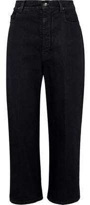 Rick Owens Cropped High-Rise Straight-Leg Jeans