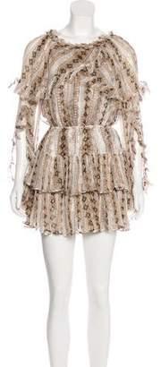 Caroline Constas Metallic Printed Dress