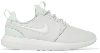 Nike - Roshe Two Textured-leather And Mesh Sneakers - White $130 thestylecure.com