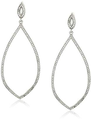 "Carolee Floral Lace-Bridal/Prom"" Tone Elongated Pierced Drop Earrings"