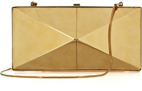 Donna Karan Element gold-tone clutch