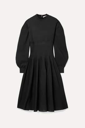 Givenchy Ribbed Silk-blend Midi Dress - Black