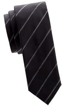 HUGO BOSS Contrast Stripe Silk Tie