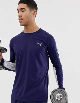 Puma training long sleeve top in navy