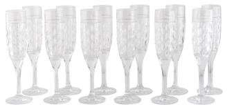 Ralph Lauren Set of 12 Aston Champagne Flutes
