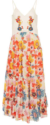 Carolina K. Marieta Floral-Print Cotton And Silk-Blend Maxi Dress