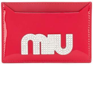 Miu Miu maxi crystal logo card holder