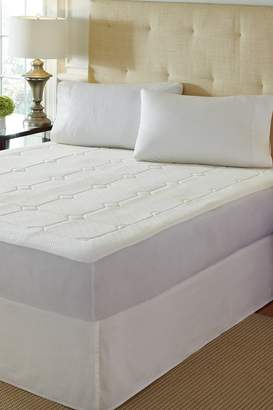 Rio Home Premier White Quilted Memory Foam Mattress Pad - White