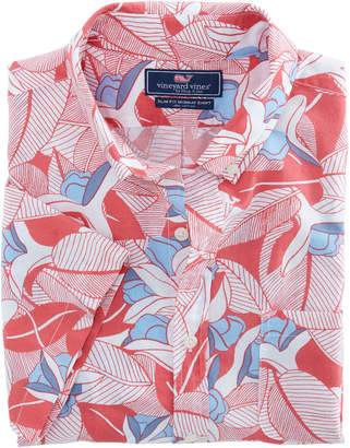 Vineyard Vines Short-Sleeve Flower & Leaves Slim Murray Shirt
