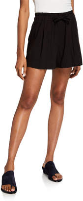 Vince Pleated Cotton Drawstring Shorts