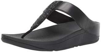 FitFlop Women's SPARKLIE Crystal Toe Post Flip-Flop 7 M US