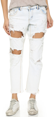 One Teaspoon Lonely Boy Slouch Jeans $149 thestylecure.com