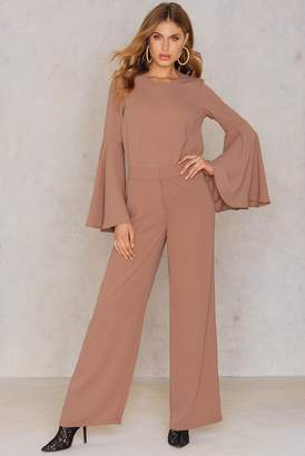 Hannalicious X Na Kd Flared Suiting Pants Pink Terracotta