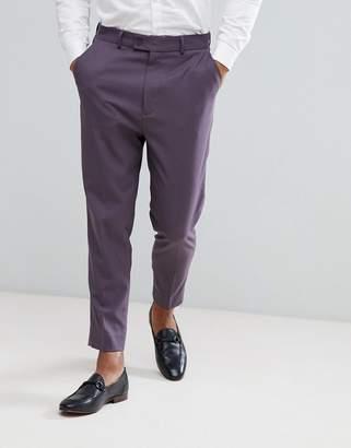 Asos DESIGN Tapered Smart Pants In Dark Mauve