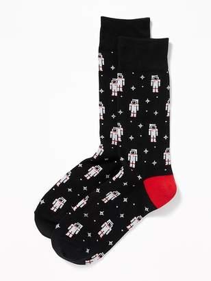 Old Navy Printed Crew Socks for Men