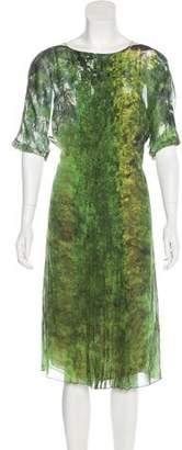 Akris Midi Silk Dress