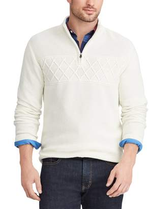 Chaps Men's Regular-Fit Textured Quarter-Zip Pullover