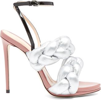 MARCO DE VINCENZO Plaited leather sandals $671 thestylecure.com